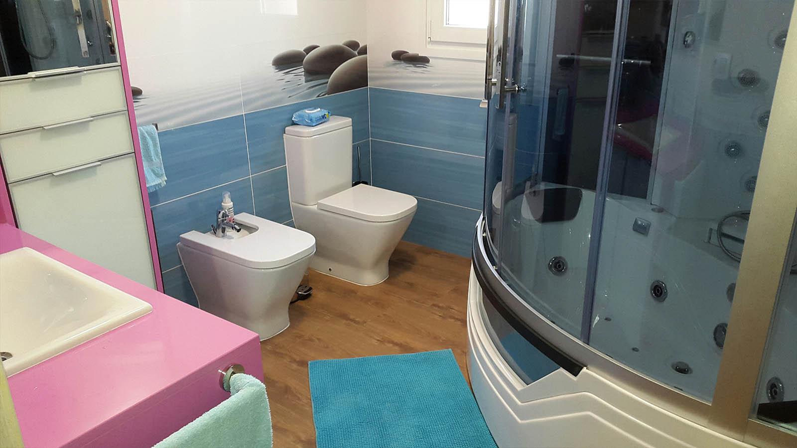 Cabine de douche hydromassante avec baignoire AT-012A
